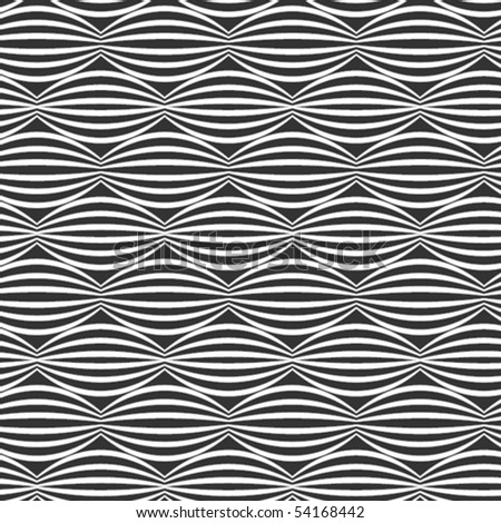 Horizontal, vector, wavy pattern - stock vector