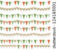 horizontally seamless irish party bunting pack, isolated on white - stock vector