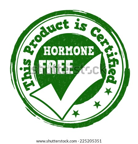 Hormone free grunge rubber stamp on white background, vector illustration