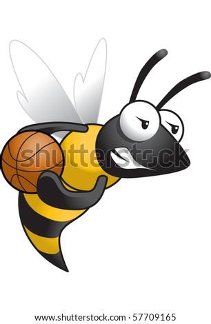 Hornet-Basketball - stock vector