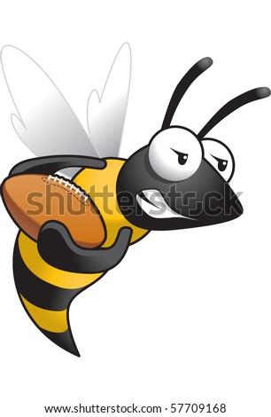 Hornet-Football - stock vector