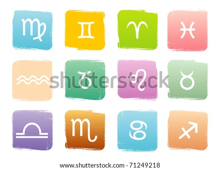Horoscope zodiac signs, vector set - stock vector