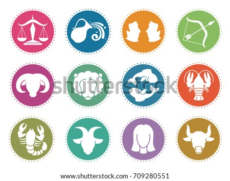 Horoscope Zodiac Vector Signs Astrology Symbols Stock Vector