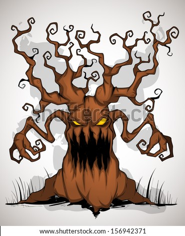Horrible tree color - stock vector