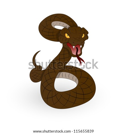 Horrible Vector Snake - stock vector