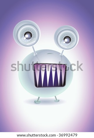 horror thing. Vector character design. - stock vector