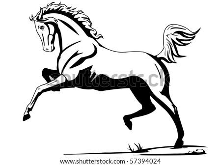 horse - stock vector