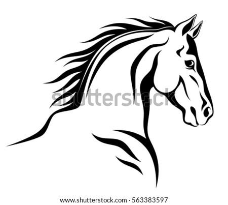 Horse Head Stock Vector 563383597 Shutterstock