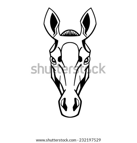 Horse head stylization ears raised thoroughbreds for for Thoroughbred tattoo lookup