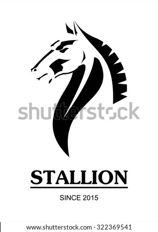 horse, horse head. side view of Elegant line art horse. Suitable for team Mascot,community identity,product identity,corporate identity,illustration for apparel,clothing, etc - stock vector