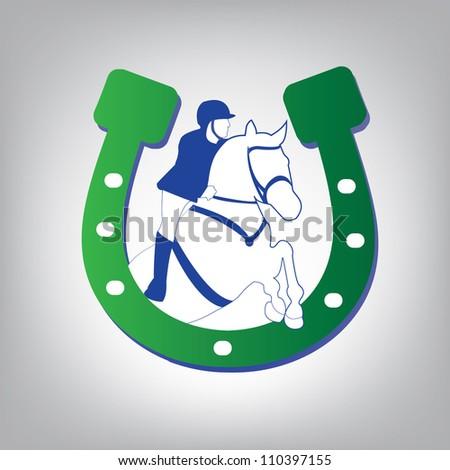 horse icon - stock vector