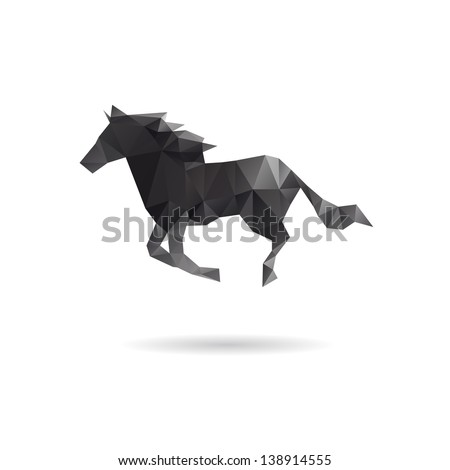 Horse isolated on a white backgrounds - stock vector