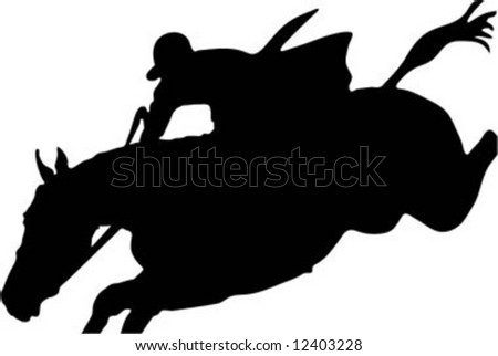 horse jumping vector - stock vector