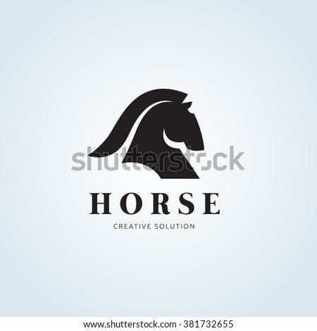 Horse Logo - stock vector