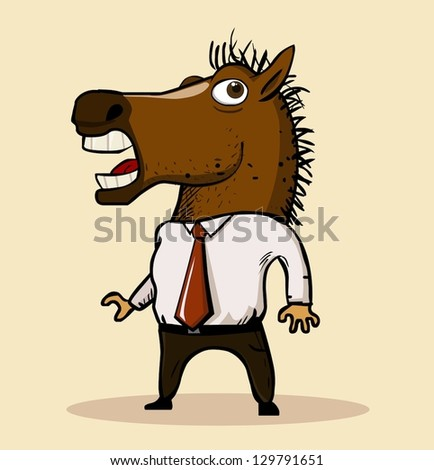 Horse mask 2013 trend. Vector illustration - stock vector