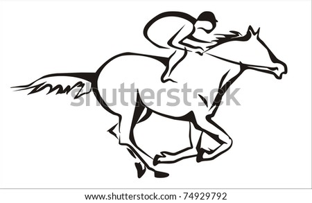 Horse Symbols Drawings Horse Racing And Jockey Symbol