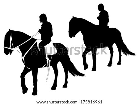 Horse riding - stock vector