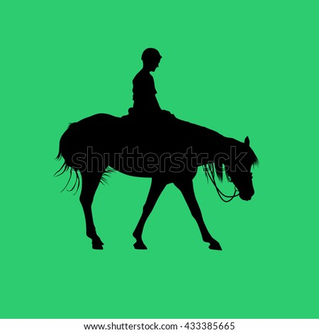 horse riding school - stock vector