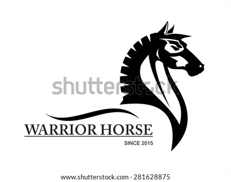 horse. side view of Elegant black horse.symbolizing power, dignity, etc.Suitable for team Mascot ,community identity, product identity, corporate identity, illustration for apparel,clothing, etc  - stock vector
