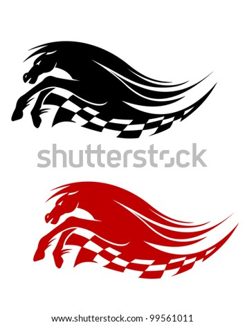 Horse symbol for racing sports design isolated on white background, such  a logo. Jpeg version also available in gallery - stock vector