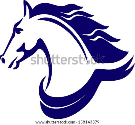 Horse symbol, Horse emblem - stock vector