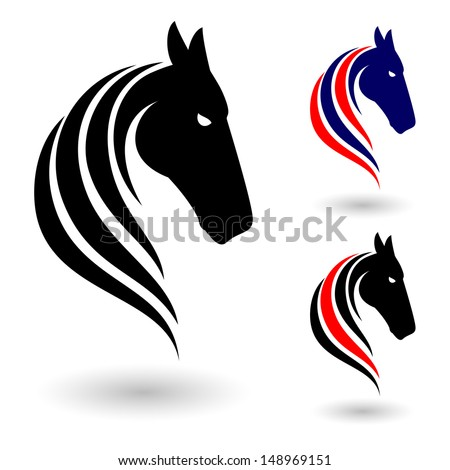 Horse symbol. Illustration on white background for design - stock vector