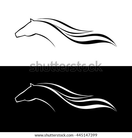 Horse symbol vector. Abstact symbol. Corporate icon. - stock vector
