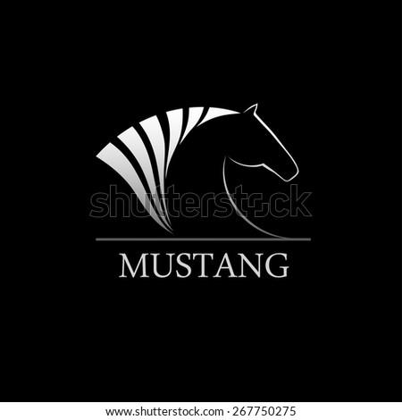 Horse symbol vector. Abstract symbol. Corporate icon. - stock vector