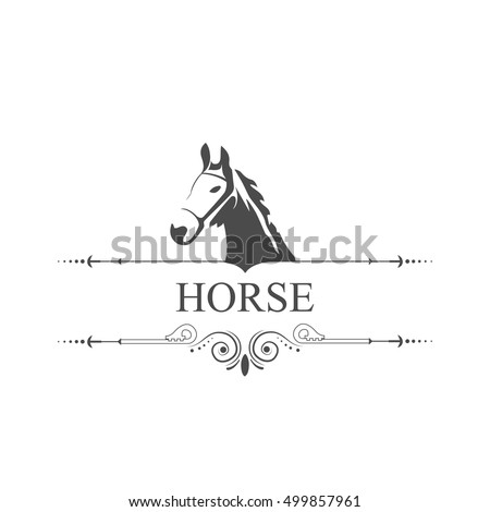 Horse Symbol Place Text Stock Vector 499857961 Shutterstock