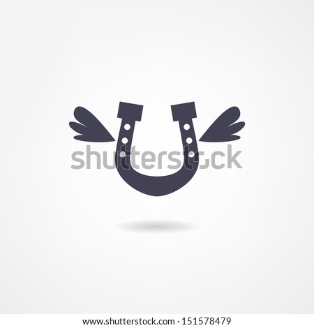 horseshoe icon - stock vector