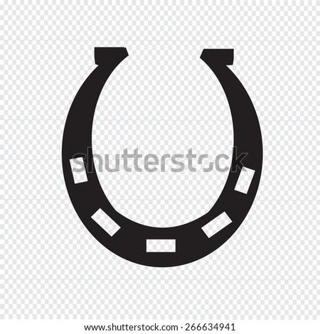 Horseshoe icon - stock vector