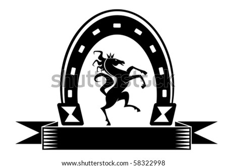 Horseshoe lucky symbol - also as emblem. Jpeg version also available in gallery