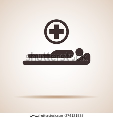 hospital bed - stock vector