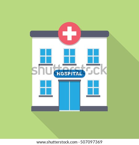 Hospital icon stock vector 604031429 shutterstock hospital building medical icon flat design vector malvernweather Images