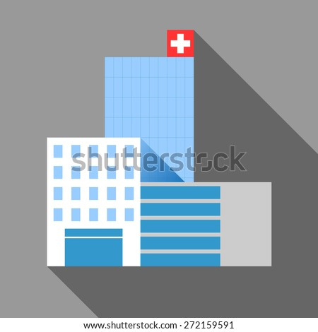 hospital building, modern architecture vector design - stock vector