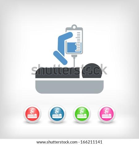 Hospital care - stock vector