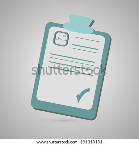 Hospital clip board check  - stock vector