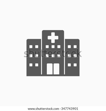 hospital icon - stock vector