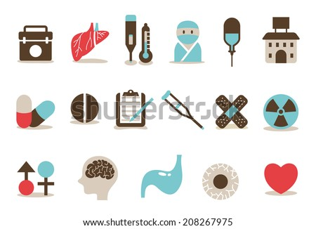 Hospital icon A - stock vector