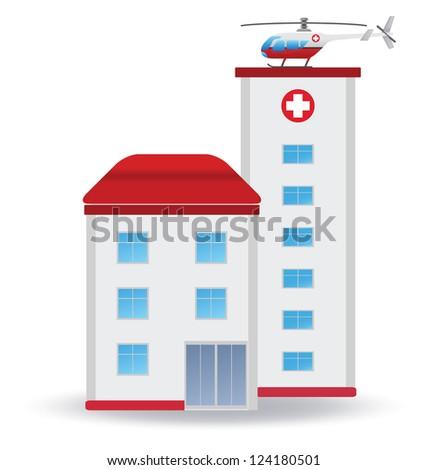 Hospital. Vector illustration - stock vector