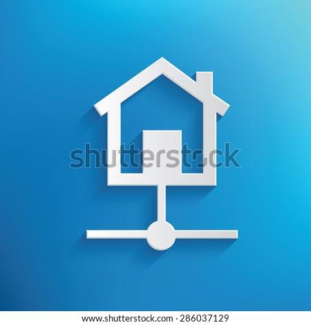 Host server design on blue background,clean vector - stock vector