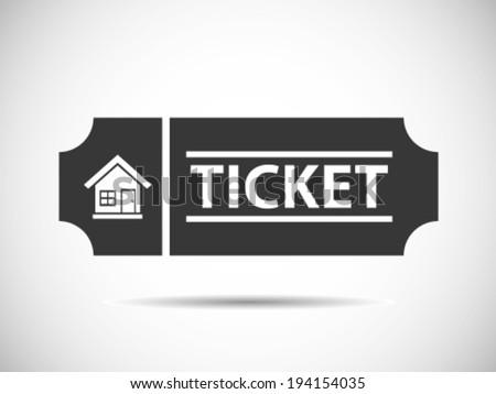 Host Tickets - stock vector