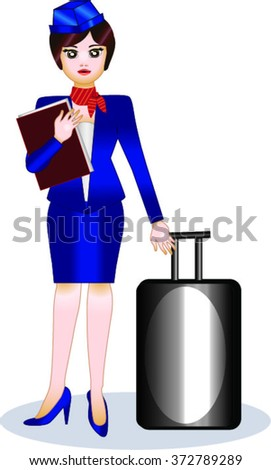 Hostess - stock vector