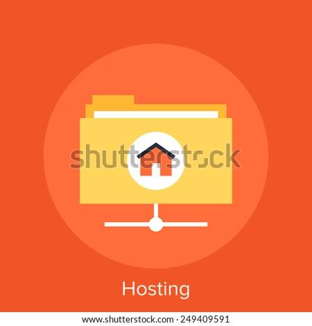 Hosting - stock vector