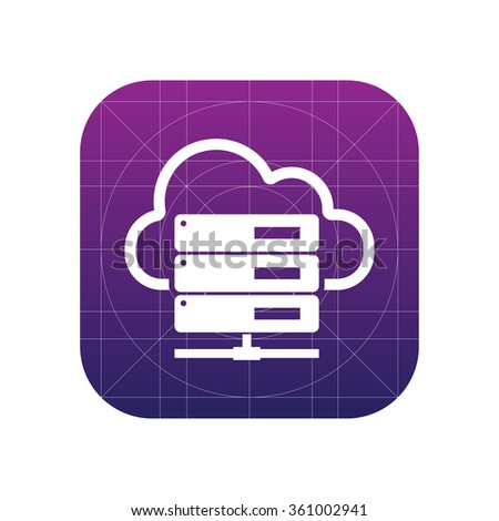 Hosting server icon for web and mobile - stock vector