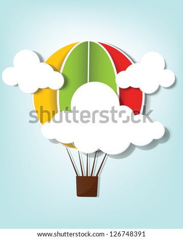 hot air balloon in the sky - stock vector