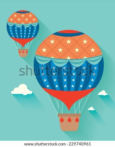 hot air balloon vector/illustration - stock vector