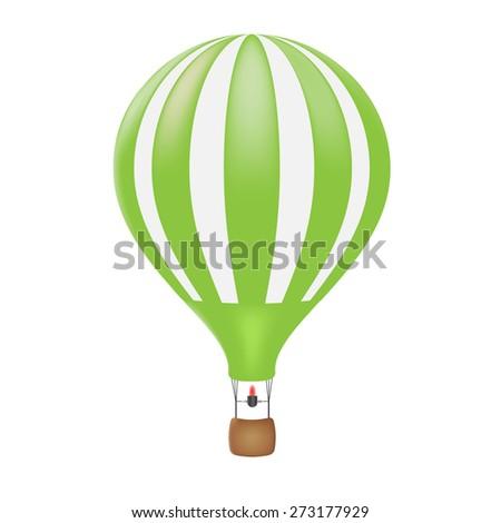Hot air balloon, vector illustration - stock vector