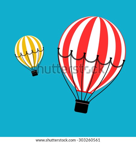 Hot Air Balloons. Vector illustration