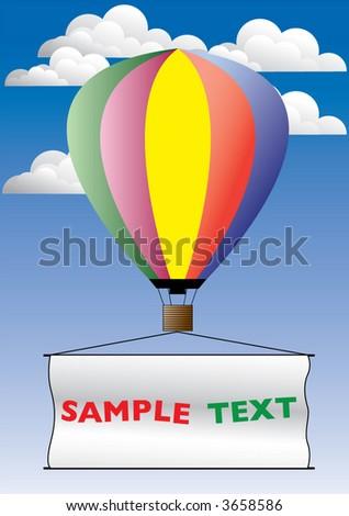 hot air publicity balloon - stock vector